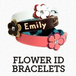 Leather Flower ID Bracelets